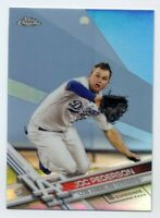2017 Topps Chrome JOC PEDERSON Rare SILVER REFRACTOR #140 Los Angeles Dodgers