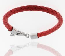 Red Bracelet Real Geflochtes Leather Flechtkordel 0 3/16in STORCH SCHMUCK