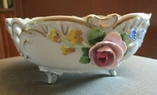 VTG. VON SCHIERHOLZ PORCELAIN CENTREPIECE FOOTED BOWL GERMANY