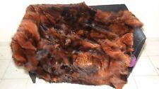 Luxury Brown Fox Fur Throw / Blanket Real Fox Fur Bedspread
