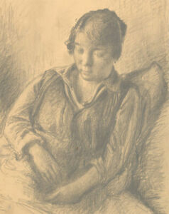 Harold Hope Read (1881-1959) - Graphite Drawing, Portrait of the Artist's Lover