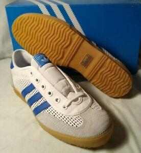 M-10.5 adidas Originals Tischtennis White, Blue & Gray Suede New With Box EF5629