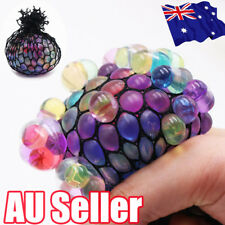 Novelty Anti-Stress Sensory Squishy Mesh Venting Ball Grape Squeeze Toy HOT BO