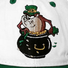 Baseball Cap Tasmanian Devil Taz Looney Tunes Irish Leprechaun Pot Of Gold