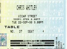 Chris Whitley - RARE Irish Concert Ticket - Vicar St. Dublin - 22nd Sept. 1998