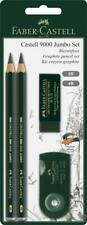Faber-Castell 9000 Jumbo Pencil Set (2B/4B) with Eraser & Sharpener