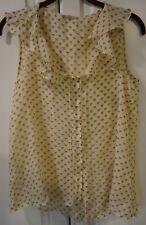 One Clothing sleeveless ruffle top size M
