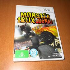 Nintendo Wii Game - MONSTER TRUX ARENAS + ( BOOKLET MANUAL ) * VERY GOOD *