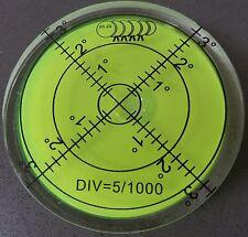 Large Spirit Bubble Degree Mark Surface Level Round, Circular Caravan Bulls Eye