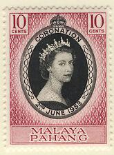 MALAYA PAHANG 1953 CORONATION MNH