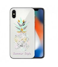 Coque Iphone X ananas aztec summer tropical exotique transparente