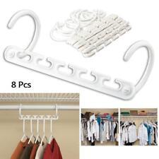 WONDER Plastic Clip Hangers Clothes Coat Trouser Skirt 8 PC wardrobe 1 Set