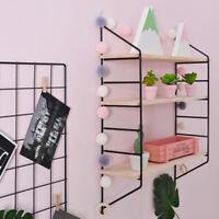 Floating Shelves Wall Mounted Shelf Bracket Storage Rack Bookshelf-Black