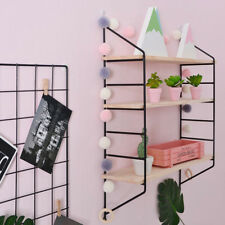 Floating Shelves Wall Mounted Shelf Bracket Storage Rack Bookshelf-Black