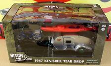 Greenlight Green Machine 1947 Ken Skill Tear Drop Trailer Hitch & Tow