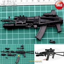 1/6 Sca Military Soldier Accessoires 4D Weapons AK74 Assembled Gun Model Plastic