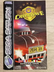 Crime Wave Crimewave Sega Saturn (Manual Only)