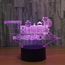 Locomotive Train Night Light 7 Color Change LED Desk Lamp Touch Room Decor Gift