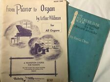lot from piano to organ by Arthur Wildman + sweet flute / recorder by Freda Dinn