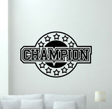 Champion Wall Decal Vinyl Sticker Boy Room Nursery Poster Home Decor Mural 2quo