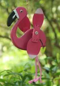 Flamingo Mini Whirligigs Whirligig Windmill Yard Art Hand made from wood