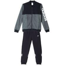 Abbigliamento tuta da ginnastici neri marca adidas per bambini dai 2 ai 16 anni