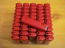 50 LED Feuerzeuge Rot mit einfarbigen Werbeaufdruck
