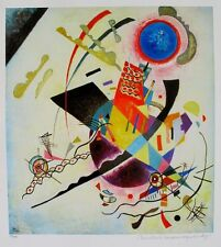 Wassily Kandinsky BLUE CIRCLE Estate Signed Limited Edition Art