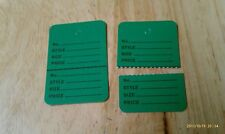 "300 Clothing Price Tagging Tags Tagger Gun Hang Label Green Large 1 3/4""x 2 7/8"""