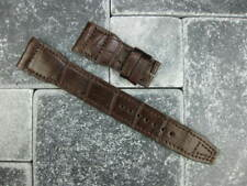 22mm Genuine Alligator Skin Leather Strap Brown Watch Band for IWC BIG PILOT r