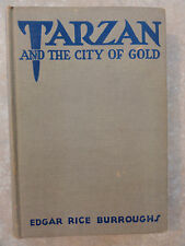 TARZAN AND THE CITY OF GOLD BY EDGAR RICE BURROUGHS 1933 H/B   GOOD CONDITION