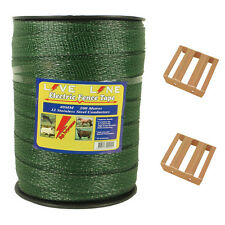 Live Line - Superior Electric Fencing Tape - 40mm - 200 meter Roll - GREEN