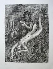Albert DECARIS Gravure Signée Num Mythologie erotic