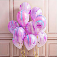 NEW 10/20Pcs Marble Agate Latex 12 Inch Balloon Party Birthday Decor Babys Shows