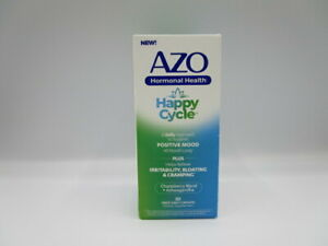 AZO Hormonal Health Happy Cycle To Relieve Bloating Irritability Cramping 30 Ct