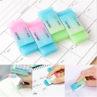 Fashion Durable Flexible Cube Translucent Pencil Rubber Erasers For School Kids