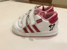 Adidas Disney Minnie Mouse Little Girls Trainers White & Pink Size Infants 5