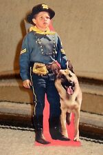 "Rin Tin TIn and Rusty Figure Tabletop Display Standee 10 3/4"" Tall"