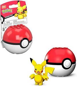 MEGA Construx Pokemon PIKACHU Pokeball Mini Figure GKY69