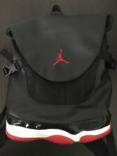 "AUTHENTIC NIKE AIR JORDAN 11 Premium Shoe Bag ""BRED"" Black & Red 631693-010"