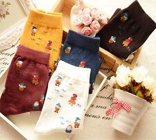 5 Pairs Lot Womens Casual Cotton Low Cut Ankle Socks Fashion Funky Kawaii,US 5-9