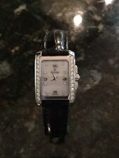 Ladies Concord Watch with Diamond Bezel & Black Leather Strap, New without Tags