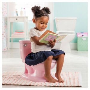 My Size Potty Training Toddler Toilet Seat Sound Flush Handle  & Lid Pink Girl