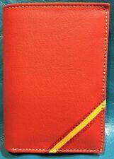 Cartera de Piel Vacuno | Hombre| Rojo Bandera España |Piel de Ubrique |Hand Made