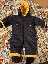 Baby Boy 3-6 Mo Snowsuit Coat Bunting Navy & Yellow EUC
