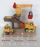 *ELC Happyland Construction Site Bundle With Vehicles, Road Signs & Figures