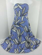 Bitten Womens 2 Strapless Dress French Blue Floral Sarah Jessica Parker