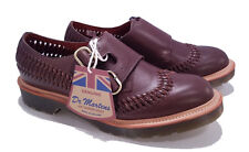 Dr. Martens Doc MIE England Dark Brown Beaumont Braider Leather Shoe UK 6 US 8