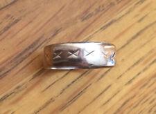 Silver Mens Wedding Band Ring Hallmarked