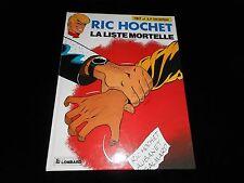 Tibet / Duchâteau : Ric Hochet 42 : La liste mortelle EO Le Lombard 1986